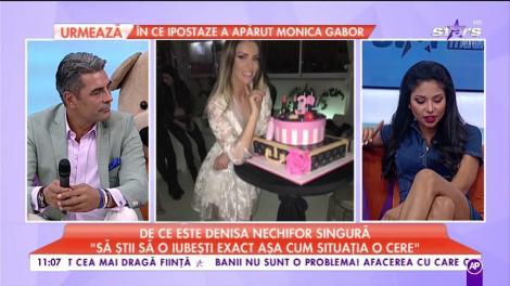 """De ce este Denisa Nechifor singură: """"Pentru femeia ta, să fii bărbat"""""""