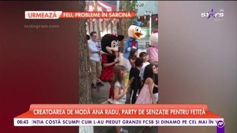 Creatorea de modă Ana Radu, party de senzație pentru fetița ei