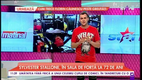 Sylvester Stallone, în sala de forță la 72 de ani