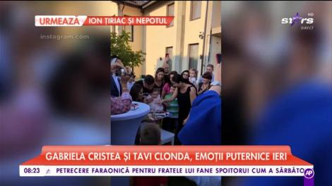 Gabriela Cristea şi Tavi Clonda i-au rupt turta fetiței lor