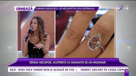 Denisa Nechifor, acoperită cu diamante de un milionar!