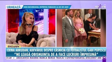 Crina Abrudan, adevărul despre căsnicia cu fotbalistul Gabi Popescu
