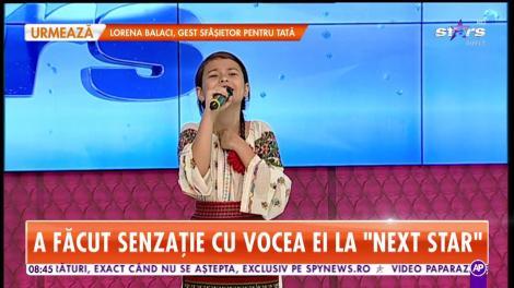 """Eliza Popovici, fetița care a făcut senzație cu vocea ei la """"Next Star"""", cântă la Star Matinal"""