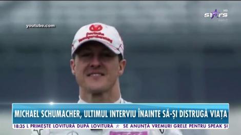 Michael Schumacher, ultimul interviu înainte să-și distrugă viața