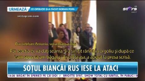 """Antonio, soţul Biancăi Rus, iese la atac:""""Nu am atins-o cu un deget şi nu am plecat cu niciu gram de aur"""""""