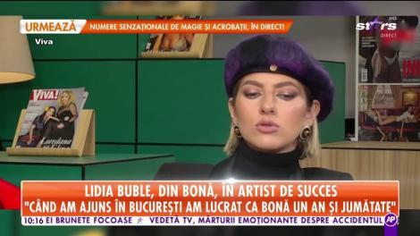 Lidia Buble, din bonă, în artistă de succes