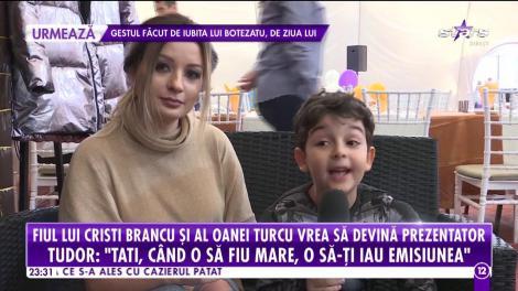 """Fiul lui Cristi Brancu și al Oanei Turcu a dat o super petrecere. Puștiul a venit cu iubita la party: """"O să vă arăt ceva super tare"""""""