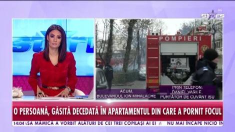 Incendiu de proporții într-un bloc din București
