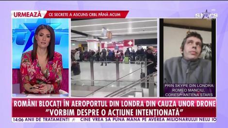 Romăni blocați într-un aeroport din Londra din cauza unor drone!