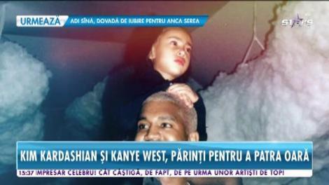 Familia lor se măreşte din nou! Kim Kardashian şi Kanye West vor deveni părinţi, pentru a patra oară