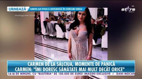 Carmen de la Sălciua a leșinat pe scenă