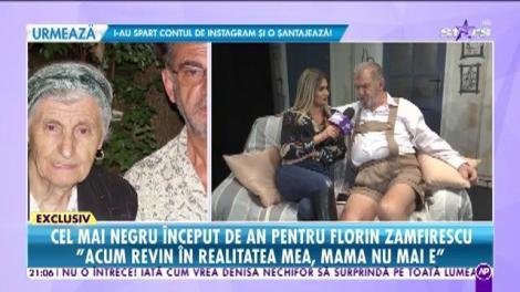 Prima mărturie a lui Florin Zamfirescu după ce și-a condus mama pe ultimul drum