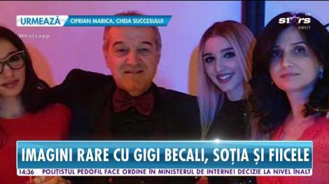 Imagini rare cu Gigi Becali, soția și fiicele