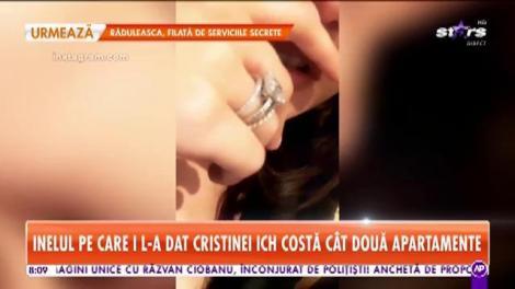 Inelul pe care l-a primit Cristina ICH de la Alex Piţurcă valorează cât două apartamente