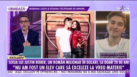 """Sosia lui Justin Bieber, un român milionar în dolari, la doar 20 de ani! Sebastian Dobrincu: """"Plătesc o chirie lunară de 15.000 de dolari"""""""