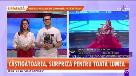 Ester Peony va reprezenta România la Eurovision 2019 în Israel. Letiția Moisescu face dezvăluiri din culise