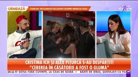 """Cristina Ich şi Alex Piţurcă s-au despărţit: """"Cererea în căsătorie a fost o glumă"""""""