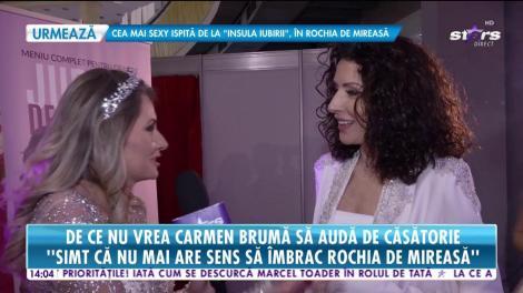 """De ce nu vrea Carmen Brumă să audă de căsătorie: """"Între noi nu există o hârtie, dar avem toate celelalte ingrediente"""""""