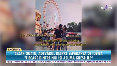 """Cezar Ouatu s-a despărțit de Andreea Vilău: """"Am decis să fim pe drumuri diferite"""""""