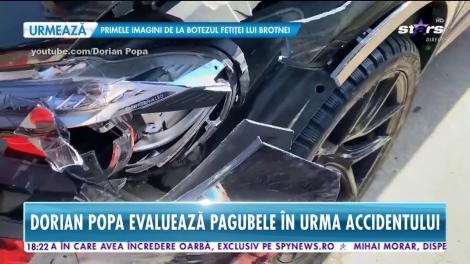 Dorian Popa se uită cu milă la bolidul de 80.000 de euro avariat! Cum arată maşina
