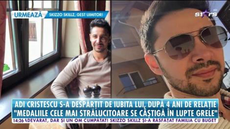 """Adi Cristescu şi iubita sa şi-au spus """"adio"""" după patru ani de relaţie!"""