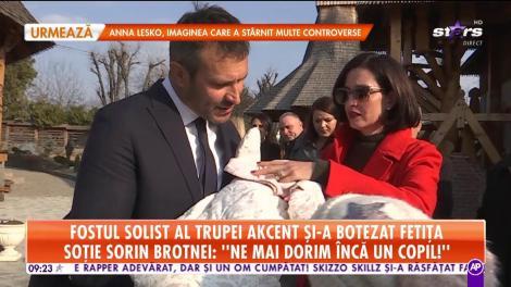 Declaraţii exclusive de la botezul fetiţei lui Sorin Brotnei!