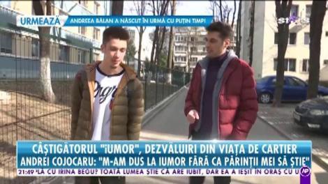 """Câştigătorul iUmor, dezvăluiri din cartier. Andrei Cojocaru: """"După apariția la iUmor, cineva m-a chemat să îi cânt la nuntă"""""""