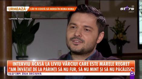 """Interviu acasă la Liviu Vârciu: """"Părinții m-au bătut foarte tare, eu am fost un copil bătut"""""""