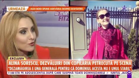 Alina Sorescu, dezvăluiri din copilăria petrecută pe scenă: Încă de la patru ani am avut contact cu lumea aceasta