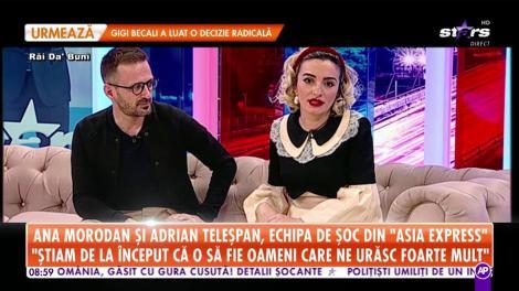 Ana Morodan și Adrian Teleșpan, echipa de șoc din Asia Express! Cei doi au intrat în depresie când s-au întors în România