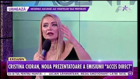 """Cristina Cioran, noua prezentatoare a emisiunii """"Acces Direct"""": Sunt conştientă că mă voi lovi de situaţii care mă vor emoţiona sau revolta!"""