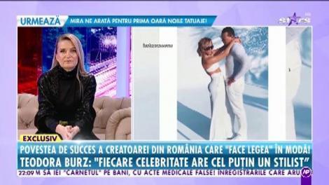 Teodora Burz a vândut legume în piață, iar acum face haine pentru celebrităţile de la Hollywood