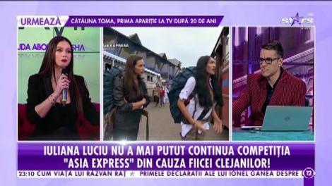 Regretele Iulianei Luciu, după ce a părăsit competiția Asia Express: Eu sunt obișnuită cu greul, de la 16 ani sunt pe picioarele mele