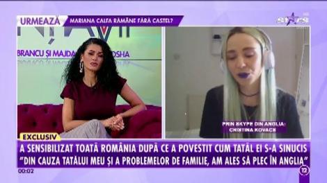 Cristina Kovacs a avut curajul să povestească cum tatăl ei a abuzat-o și a reușit să devină celebră