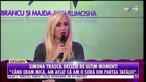 Simona Traşcă, decizie de ultim moment! Refuză să-şi mai cunoască sora pierdută!