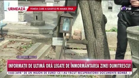 Informații de ultimă oră legate de înmormântarea Zinei Dumitrescu