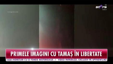 Primele imagini cu Gabriel Tamaş în libertate! A sărbătorit cu artificii şi le-a mulţumit fanilor