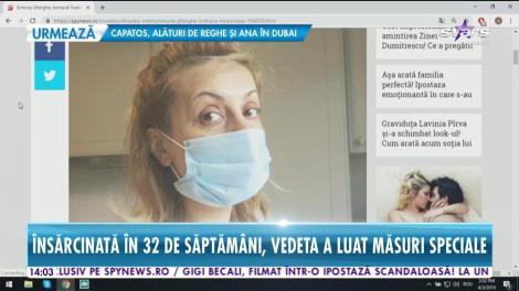 Simona Gherghe a răcit şi a luat măsuri speciale! Prezentatoarea a ales să poarte o mască pe faţă