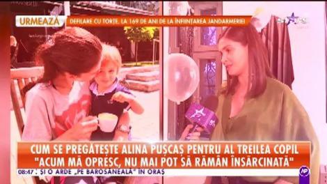 Cum se pregăteşte Alina Puşcaş pentru al treilea copil