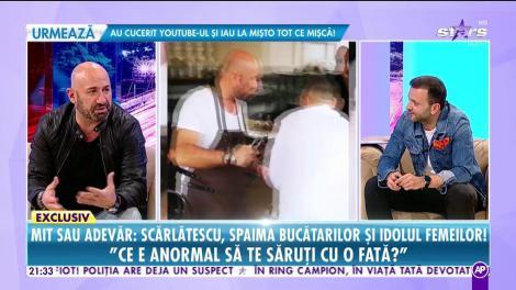 """Chef Cătălin Scărlătescu, totul despre ipostazele tandre alături de o cântăreață celebră: """"Ce e anormal să te săruți cu o fată? Nasol dacă mă prindeau că mă sărutam cu un bărbat"""""""