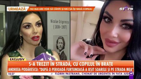 Andreea Podărescu a fost dată afară din casă, cu tot cu copil, de către propria familie, iar atunci când a cerut ajutor din partea tatălui copilului nu l-a primit