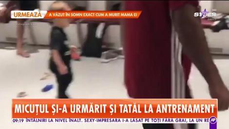Fiul lui Adrian Mutu, pe urmele tatălui. Briliantul l-a dus pe Tiago în vestiarul echipei pe care o antrenează