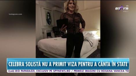 Loredana Groza, interzisă în America! Celebra solistă nu a primit viza pentru a cânta în Statele Unite