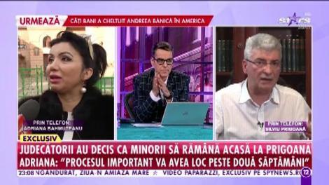 Adriana Bahmuțeanu a pierdut custodia copiilor! Silviu Prigoană: Începând de astăzi copiii stau la mine legal