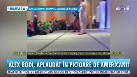 Alex Bodi, aplaudat în picioare de americani. Iubitul Biancăi Drăguşanu i-a dat pe spate pe afaceriştii de peste Ocean