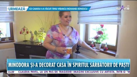 Minodora și-a decorat casa în spiritul sărbătorii de Paști. Ce nu-i lipsește vedetei de pe masă în ziua sfântă