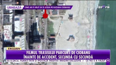 Filmul traseului parcurs de Răzvan Ciobanu îniante de accident, secundă cu secundă