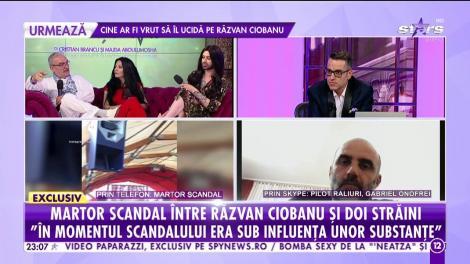 Martor la scandalul dintre Răzvan Ciobanu și doi străini: În momentul scandalului era sub influența unor substanțe. Răzvan era agresiv