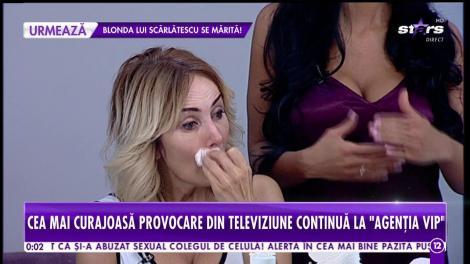 Agenția Vip. Daniela Gyorfi a acceptat testul suprem al frumuseții! Se demachiază în direct