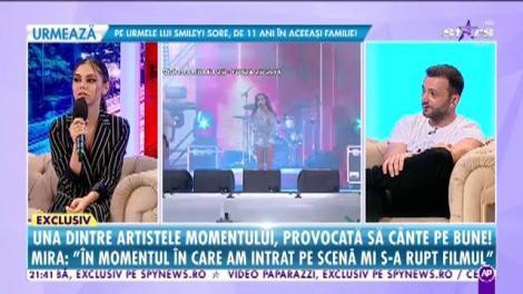 Mira, provocată de Mihai Morar să cânte pe bune!